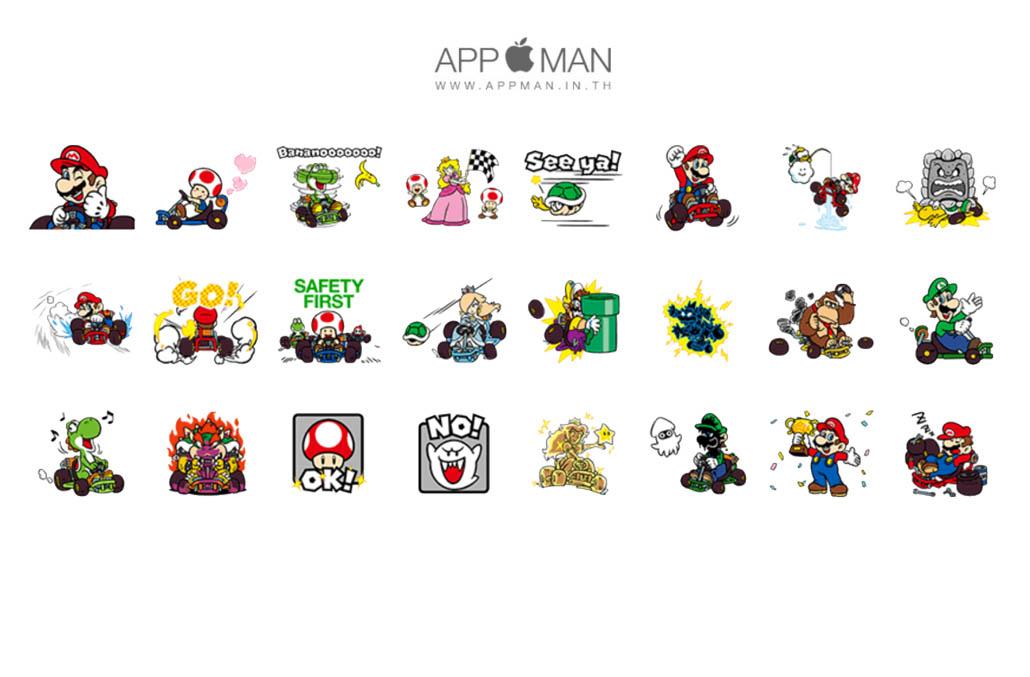 สติ๊กเกอร์ไลน์ Mario Kart GO!GO! - Sticker Line ขายสติ๊กเกอร์ไลน์