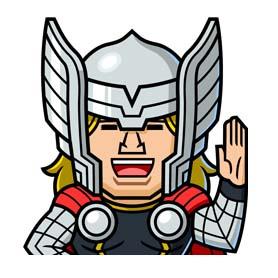 สติ๊กเกอร์ไลน์ชุด MARVEL mini Heroes