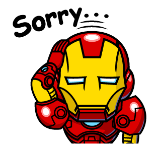 IRON MAN Sorry..