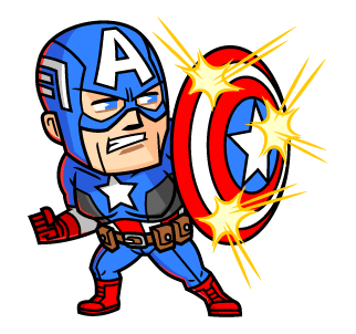 Captain America ถือโล่ห์