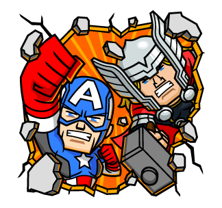 Captain America กับ เทพเจ้าสายฟ้า THOR