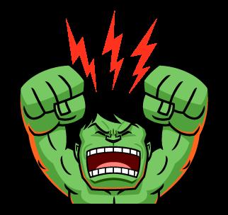 ยักษ์เขียว Hulk โกรธ สายฟ้า