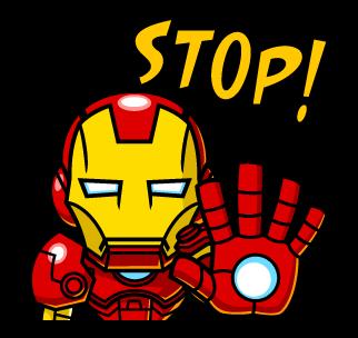 IRON MAN STOP!