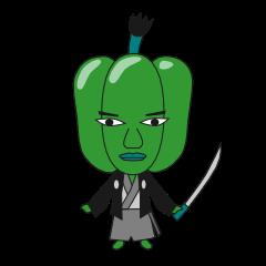 Green pepper Samurai