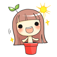sticker creator Plant Girl