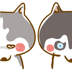 sticker creator Scary face Husky