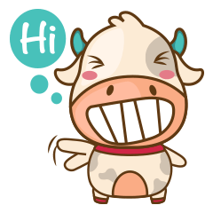 sticker creator มูบี วัวอ้วนจ้ำม่ำผู้น่ารัก