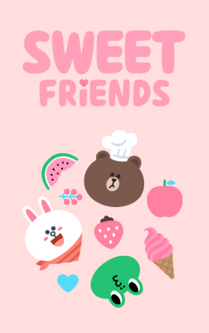 ธีม LINE Sweet Friends (ธีมไลน์คาแรคเตอร์ไลน์)