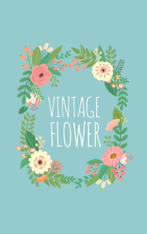 ธีม Vintage Flower (ธีมวินเทจ)