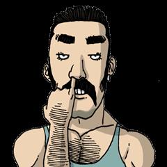 Franky สติ๊กเกอร์หนุ่มนักกล้าม