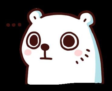 สติ๊กเกอร์ไลน์ Bac Bac Diary หมีน้อยขั้วโลก อึ้งกิมกี่