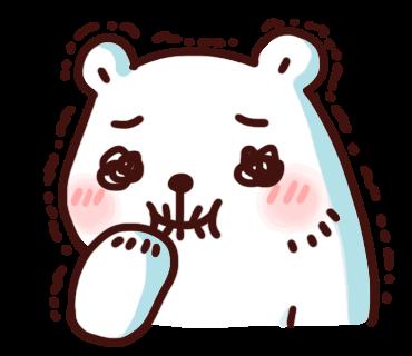 สติ๊กเกอร์ไลน์ Bac Bac Diary หมีน้อยขั้วโลก ขำๆ