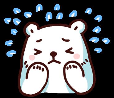 สติ๊กเกอร์ไลน์ Bac Bac Diary หมีน้อยขั้วโลก ร้องไห้