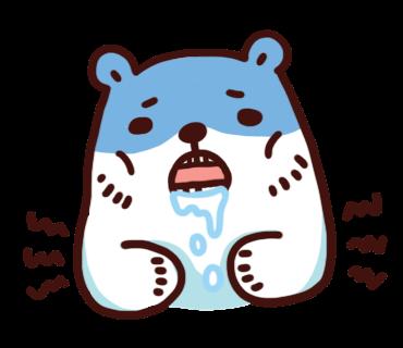 สติ๊กเกอร์ไลน์ Bac Bac Diary หมีน้อยขั้วโลก หิว