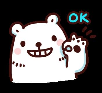 สติ๊กเกอร์ไลน์ Bac Bac Diary หมีน้อยขั้วโลก ok