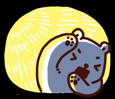สติ๊กเกอร์ไลน์ Bac Bac Diary หมีน้อยขั้วโลก
