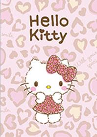 สติ๊กเกอร์ไลน์ชุด Hello Kitty เสือดาว สีชมพู