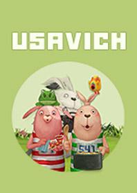 สติ๊กเกอร์ไลน์ชุด USAVICH ซี้ป่วนก๊วนกระต่าย