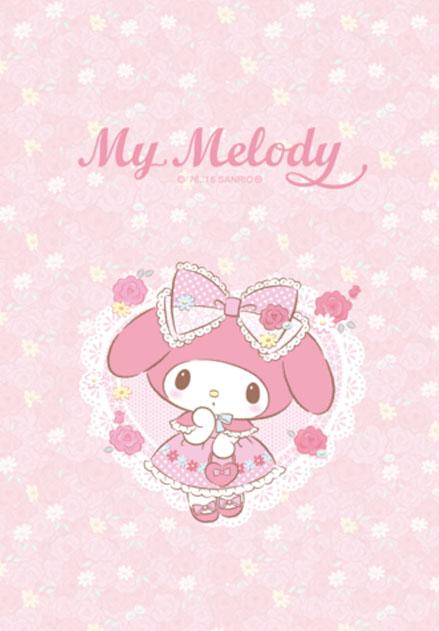 สติ๊กเกอร์ไลน์ชุด My Melody สวนดอกไม้