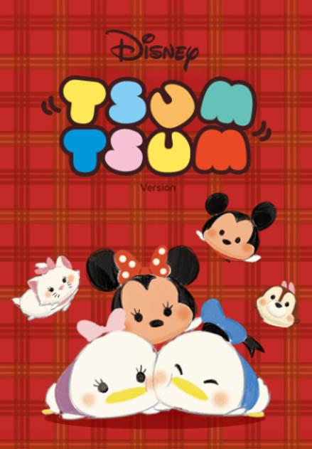 สติ๊กเกอร์ไลน์ชุด Disney Tsum Tsum ธีมลายสก็อต
