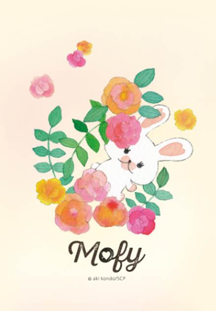 สติ๊กเกอร์ไลน์ชุด กระต่ายขาวโมฟี่ โลกนี้มีแต่กุหลาบ