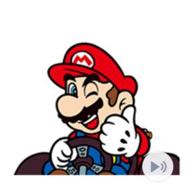สติ๊กเกอร์ไลน์ชุด Mario Kart GO!GO!