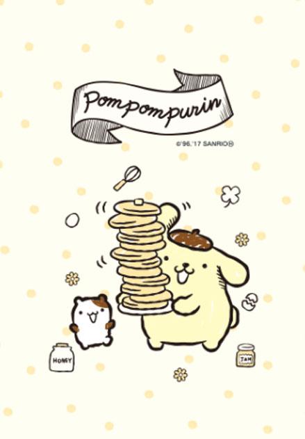theme line ปอมปอมปูริน แพนเค้ก