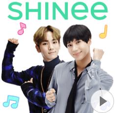 สติ๊กเกอร์ไลน์ชุด SHINee Special 3