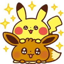 สติ๊กเกอร์ไลน์ชุด Kanahei × Pokémon วันสบายๆ