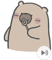 สติ๊กเกอร์ไลน์ชุด คุณหมีกับเจ้าเหมียว : ไม่บอกก็รู้ว่ารัก