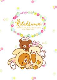 สติ๊กเกอร์ไลน์ชุด Rilakkuma: Little Cute Rabbits