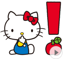 สติ๊กเกอร์ไลน์ชุด Hello Kitty 70's