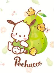 theme line Pochacco : ตลาดผลไม้