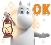 สติ๊กเกอร์ไลน์ชุด Moominvalley