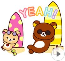 สติ๊กเกอร์ไลน์ชุด Rilakkuma: Enjoy Summer