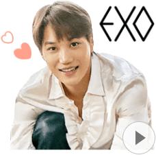 สติ๊กเกอร์ไลน์ชุด EXO Special 4