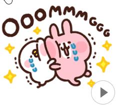 สติ๊กเกอร์ไลน์ชุด Piske & Usagi โดย Kanahei ดุ๊กดิ๊กน่ารัก