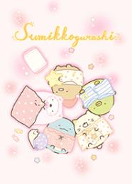 สติ๊กเกอร์ไลน์ชุด Sumikkogurashi: Pajama Party