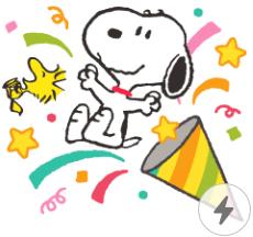 สติ๊กเกอร์ไลน์ชุด Snoopy สติกเกอร์ป๊อปอัพ