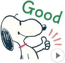 สติ๊กเกอร์ไลน์ชุด Snoopy ยุค 60's