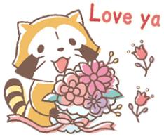 สติ๊กเกอร์ไลน์ชุด Rascal & Lily☆รักกันทุกวันเลย
