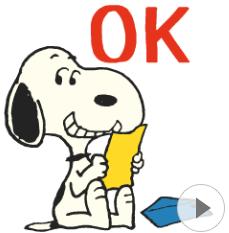 สติ๊กเกอร์ไลน์ชุด Snoopy ยุค 70's
