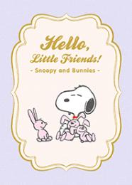 สติ๊กเกอร์ไลน์ชุด Snoopy & Bunnies