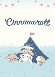 สติ๊กเกอร์ไลน์ชุด Cinnamoroll แคมป์นี้น่ารัก