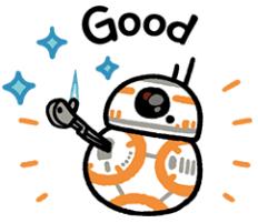 สติ๊กเกอร์ไลน์ชุด Star Wars ลายเส้น Kanahei