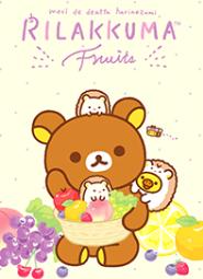 สติ๊กเกอร์ไลน์ชุด Rilakkuma: Yum Yum Relax with Fruits