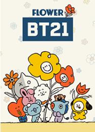 สติ๊กเกอร์ไลน์ชุด BT21 โลกแห่งดอกไม้