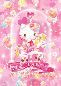 สติ๊กเกอร์ไลน์ชุด เฮลโลคิตตี สวนดอกไม้สีชมพู
