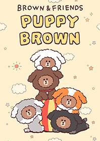 สติ๊กเกอร์ไลน์ชุด PUPPY BROWN