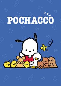 สติ๊กเกอร์ไลน์ชุด Pochacco น้ำเงินเข้ม&ชมพูเก๋